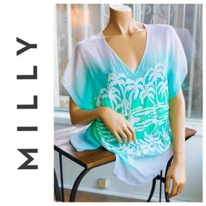 MILLY Cabana Palm Tree Sunset Beach Cover Up S